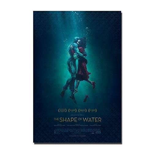 Die Form des Wassers Guillermo del Toro Filmkunst Poster Leinwand Dekoration Druck Bilder Geschenk-50x70cm No Frame
