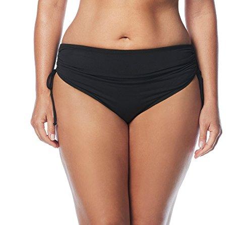 BEACH HOUSE Woman Women's Plus-Size Hayden High Waisted Bikini Swimsuit Bottom with Adjustable Side Ties, 001 Black, 24W
