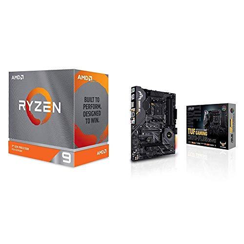 AMD Ryzen 9 3950X Processor (16C/32T, 72MB Cache, 4.7 GHz Max Boost), and ASUS X570-Plus (WiFi) Motherboard