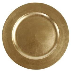 Platzteller Dekoteller Teller Weihnachtsteller, Farbe: gold, Ø 33cm