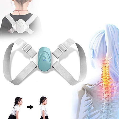 BELOVINGSHOP Haltungskorrektur Geradehalter, Rückentrainer Rückenstütze Verstellbar mit Intelligenter Sensorvibrationserinnerung, Schultergurt gegen Nacken -und Schulterschmerzen,Blau