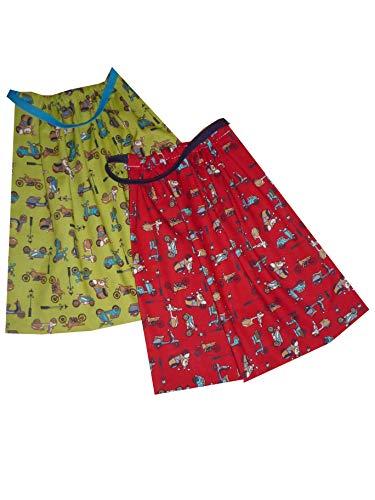 Sackcloth Sally Lot de 2 Serviettes de Table Enfant élastiquées - Plusieurs Coloris (Scooter)