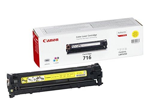 Canon cartucho 716 de tóner original amarillo para impresoras láser i-SENSYS LBP5050, LBP5050n,i-SENSYS MF8030Cn, MF8050Cn, MF8040Cn, MF8080Cw