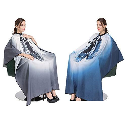 2 piezas Capas De Corte Peluqueria, Impermeable capa de calidad de salón profesional, capa de barbería Para Salón de Belleza y Uso Doméstico, Capa Ajustable Profesional del Salon
