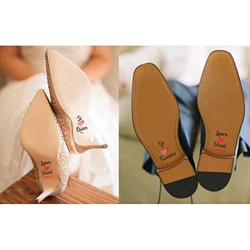 BodasOutlet Pegatinas para Zapatos Novios