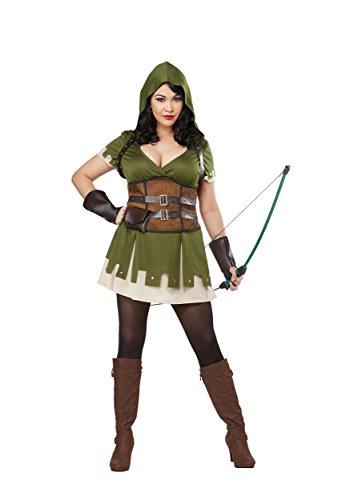 Lady Robin Hood Plus Size Womens Costume 2X Green