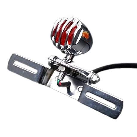 Grill Bullet Arrière Queue Arrière Frein Frein Lumière Lampe pour Chopper Bobber Cruiser Personnalisé