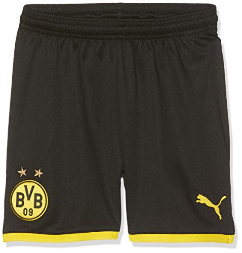 PUMA Jungen BVB Shorts Replica Jr Black/Cyber Yellow, 140