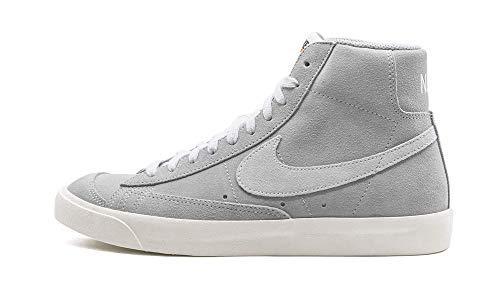 Nike Blazer Mid '77 Suede, Zapatillas para Caminar Hombre, Wolf Grey/Pure Platinum-Sail, 41 EU