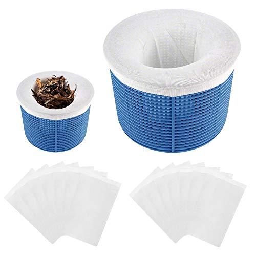 Gafild Schwimmbad Skimmer Socken, 20 Pack Skimmer Korb Filter Socken Pool Filter Netz filterschoner für körbe und Skimmer,Entfernt Schlacken, Blätter Öl, Abschaum, Pollen, Insekten