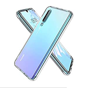 ULuck Case Compatible with Huawei P30, Crystal Clear Anti-Yellow Ultra Slim Soft TPU Silicone Shockproof, Anti-Scratch phone Case Cover - Pure Clear (6.1 inch)