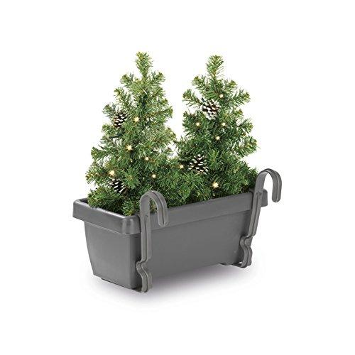 CHRISTmaxx LED-Tannenbäume im Blumenkasten 2in1, grün