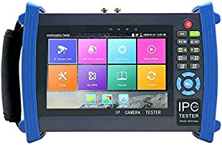 Rsrteng IPC-8600 Plus CCTV Camera Tester 7-inch IPS Touch Screen 1920x1200 Monitor CCTV Tester with CVBS Camera Test/IP Camera Test/Support POE WiFi 4K H.265 HDMI 8GB TF Card IPC-8600PLUS