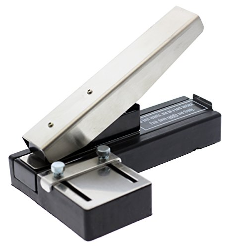 Heavy Duty Stapler Style ID Badge Slot Hole Punch (Rectangle) - with Adjustable Guides and Non-Skid Base for PVC & Plastic and Laminated Paper Cards by Specialist ID