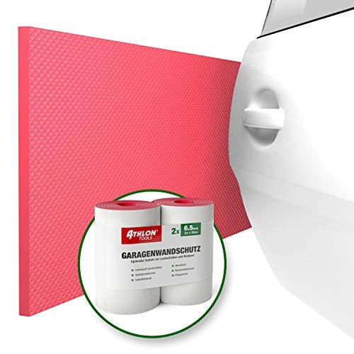 ATHLON TOOLS Premium Garage Muurbeschermer 2 m lange extra dikke auto deur Edge Protector zelfklevende waterafstotende set van 2 rood