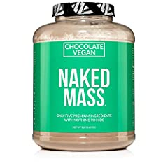 ONLY FIVE INGREDIENTS: Pea Protein Powder, Organic Rice Protein Powder, Organic Maltodextrin (made from gluten free organic tapioca) Organic Coconut Sugar and Organic Cacao. Chocolate Naked Vegan Mass contains no artificial sweeteners, flavors, or co...