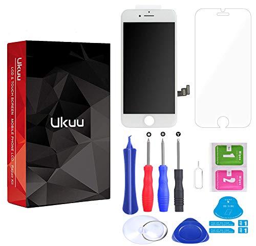 ukuu Schermo per iPhone 7 (4.7'') Touch Screen LCD Completo Assemblato Display Digitizer di Ricambio +Libero Strumento Kit -Bianco
