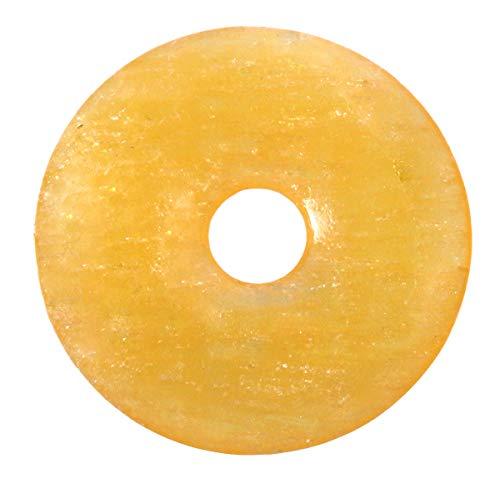 Lebensquelle Plus Orangencalcit Edelstein Donut Ø 30 mm Anhänger