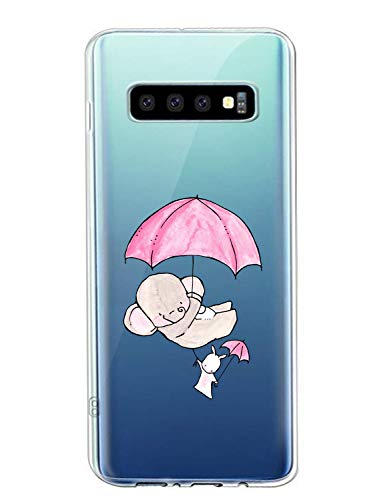 Suhctup Coque Compatible avec Samsung Galaxy A40,Ultra-Mince Souple Gel Coque Souple Soft Silicone [Shock-Absorption] Souple Solide Resistant Fine Protection Housse Etui Transparente Motif Tendance