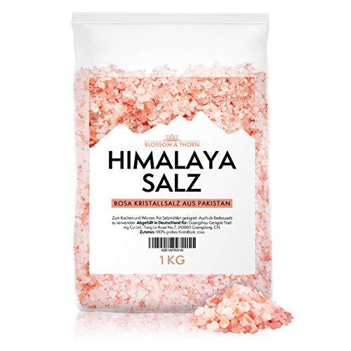 Rosa Steinsalz grob | Himalaya Salz 1kg | Grobes Salz für die Mühle aus Punjab Pakistan | Mild salzig | 100% reines Naturprodukt