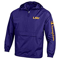 OFFICIALLY LICENSED: Team Logos and Colors are Officially Licensed by the NCAA and Champion. Each jacket comes with an Officially Licensed Tag ensuring no counterfeit designs or colors. MATERIAL-100% Polyester Micro -Poplin fabric with water resistan...