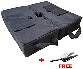 """DGQ Umbrella Base Weight Bags 18"""" 2-Piece Detachable Umbrella Sand Bag Fit for Most Outdoor Patio Umbrellas or Flagpoles with A Free Stainless Steel Scoop"""