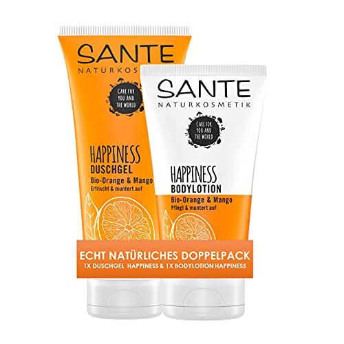 SANTE Naturkosmetik Happiness Duschgel & Bodylotion