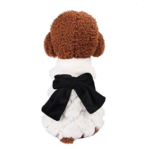 Haustier Die Kleintierhundekleidung, Welpenkleidung, warme Herbst und Winterkleidung, Wollkleidung Jacke, Übergröße, Größe: S
