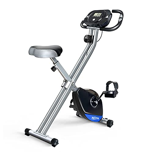 Foldable Exercise Bike, Solid X Frame Magnetic Resistance 300 lb Capacity Stationary Bikes Indoor Cycling for Home Gym
