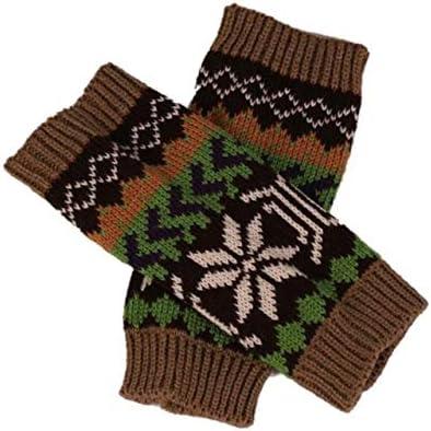 Fashion Knitted Arm Fingerless Winter Gloves Unisex Soft Warm Mitten Hand Gloves guantes eldiven handschoenen 40FE18 - (Color: D, Gloves Size: One Size)