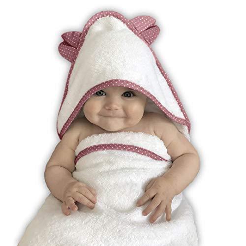 Babyhandtuch mit Kapuze (Pink)