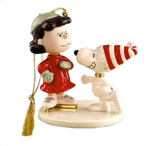 Smile Lucy - It's Christmas Ornament by Lenox China New in Box