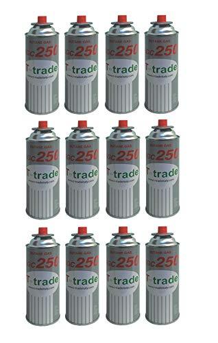 ALTIGASI KCG250 Lot de 12 cartouches de gaz GPL 250 g Idéal pour fer à souder pour cheminée, poêle, cuisinière ou four à bistro Compatible Campingaz Cp250 Brunner