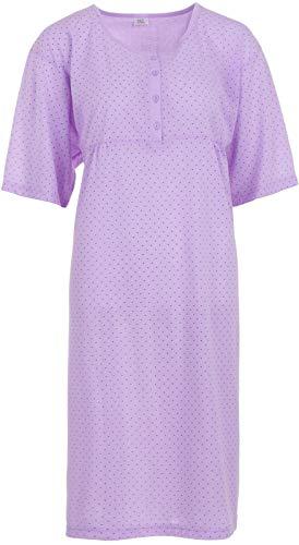 Romesa Chemise de nuit 3XL-6XL grande taille avec motif floral - violet - 60