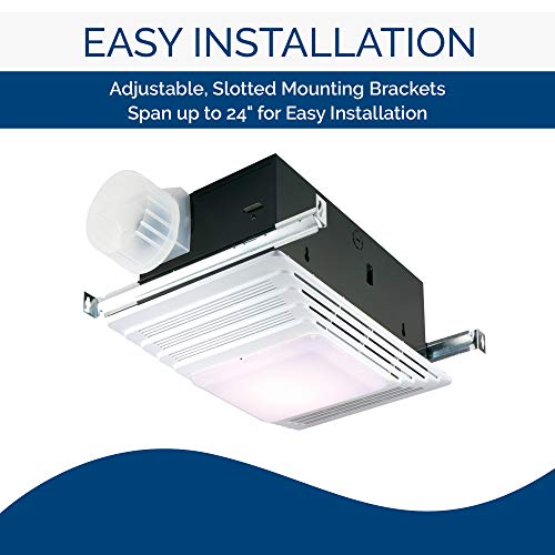 Broan-NuTone 655 Bath Fan and Light with Heater - Best bathroom exhaust fans with light and heater