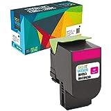Do it Wiser Cartouche de Toner XL Compatible pour Lexmark CX310n CX410e CX510de CX410de CX410dte CX510dew CX510dhe CX510dthe CX310dn CX310dnw - 80C0S30 (Magenta)