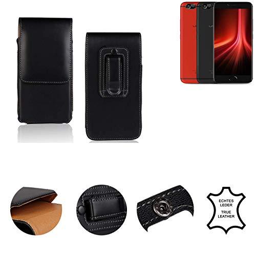 K-S-Trade® Holster Gürtel Tasche Für UMIDIGI Z1 Pro Handy Hülle Leder Schwarz, 1x