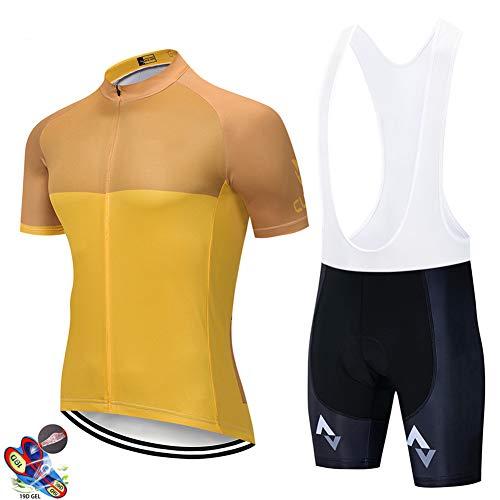 Zcbm Camisetas Ropa Conjunto De Maillot De Ciclismo Maillot Ciclismo Pantalon con 9D Acolchado De Gel De Secado Rápido Prenda Deportiva Y Transpirable,B,XXXXL