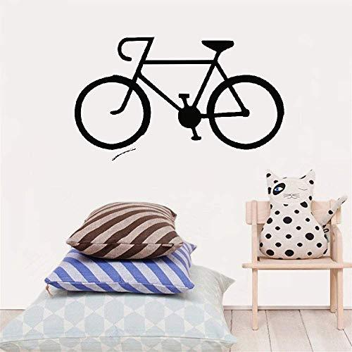 pegatina de pared 3d Etiqueta engomada de la bicicleta sala de estar de la bicicleta silueta de los niños decoración del hogar