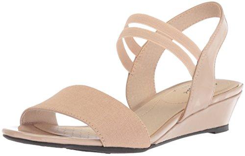 LifeStride Women's YOLO Wedge Sandal, tender taupe, 8.5 W US
