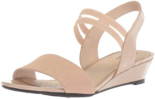LifeStride Women's YOLO Wedge Sandal, Tender Taupe, 9 W US