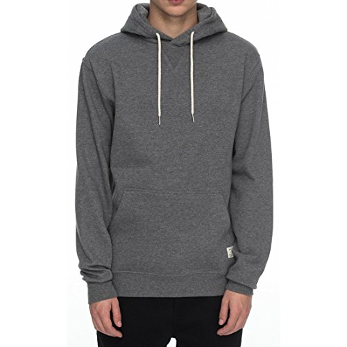 DC Men's Rebel Pullover Hoodie 3 Sweatshirt, Charcoal Heather, Large