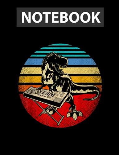 Retro Japanese Synthesizer Analog Music Synth   Notebook CollegeRuled Line   Large 8.5  x11