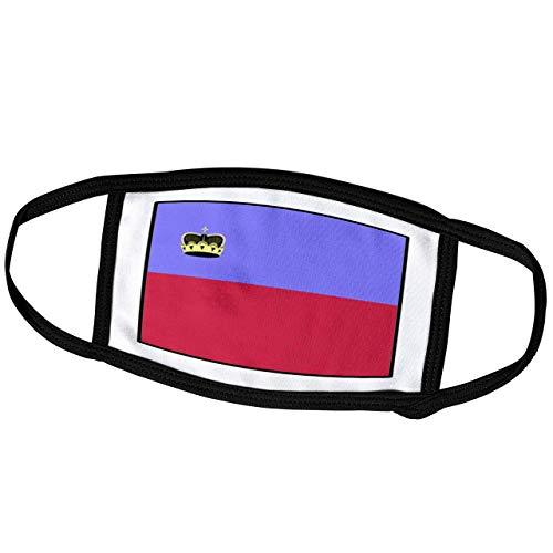 Promini Monatsmaske - Florene Weltflagge Knöpfe - Foto der Liechtenstein Flagge Knopf - Staubmaske Outdoor Schutzmaske