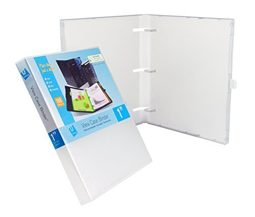 3anello di View Binder with Overlay–2,5cm (trasparente) -3Pack