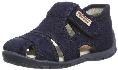 Froddo Jungen Boy Slipper G1700044-6 Flache Hausschuhe, Blau (Blue), 19 EU (3 Kinder UK)