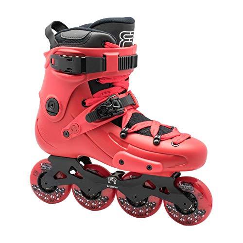 FR Skates FR1 RED 80 2019 Inlineskate für Freeride, Slalom, City Skating französische Marke, weiß, M US 9 / EU42