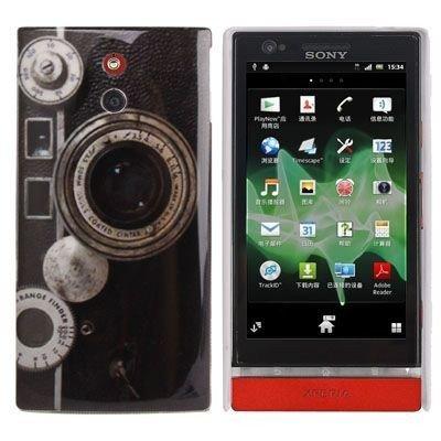 Unbekannt Hard Case/Cover caméra Sony Xperia P / LT22i avec l'objectif Range Finder étui de Protection Couverture arrière de Shell Vintage