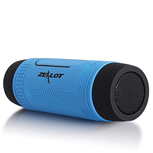 BAIYI Bluetooth Speaker Portable Outdoor Bicycle Subwoofer Bass Speakers Home Theater Partysprecher with Flashlight FM Radio,A