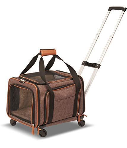 Petpeppy.com PET Peppy Premium Airline Approved Expandable Pet Carrier with Wheels - Two Side Expansion, Designed for Cats, Dogs, Kittens, Puppies - Extra Spacious Soft Sided Carrier!